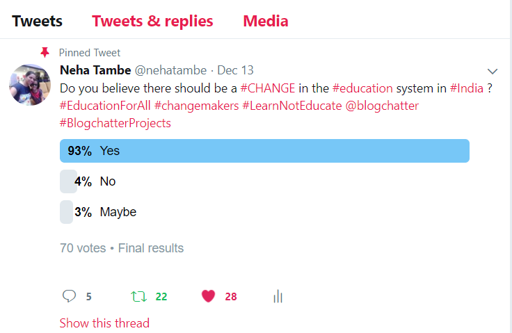 Let's work for change in Indian Education system #LearnNotEducate #BlogchatterProjects