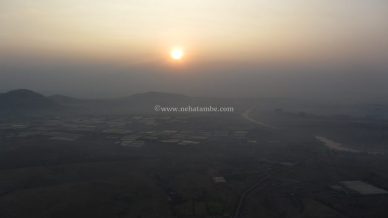 A view from the hot air balloon
